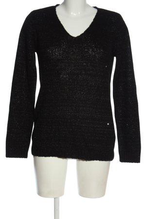 Flame Pull tricoté noir style décontracté