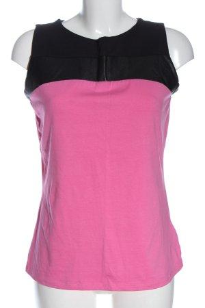 Flame Haut tricotés rose-noir style décontracté