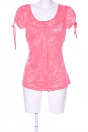 Flame T-Shirt pink abstraktes Muster Casual-Look