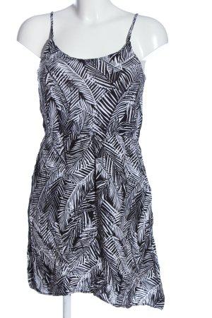 Flame Trägerkleid schwarz-weiß Allover-Druck Casual-Look