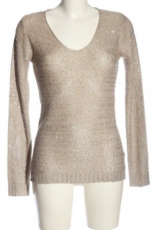 Flame V-Ausschnitt-Pullover bronzefarben Casual-Look