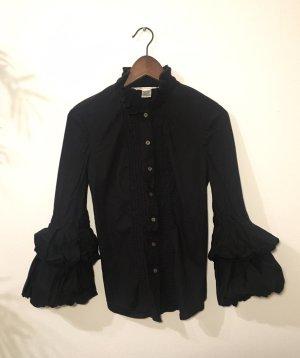 Diane von Furstenberg Stand-Up Collar Blouse black