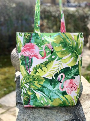 Flamingo green Shopper