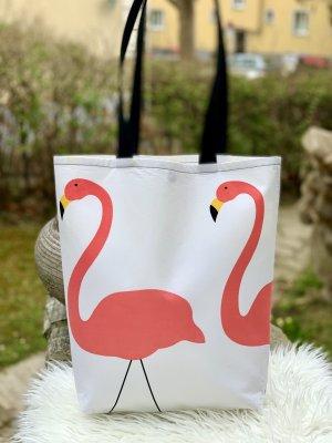 Flamingo white Shopper