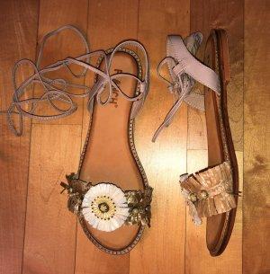 Sandalo con cinturino multicolore Pelle