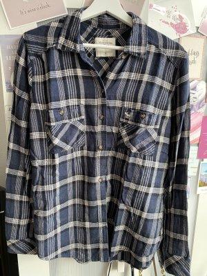Abercrombie & Fitch Camisa de franela azul oscuro