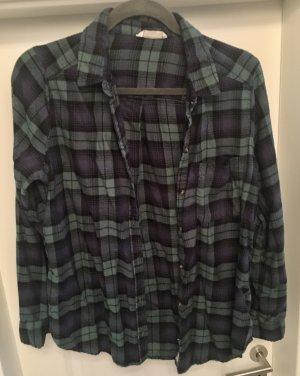 Hollister Camisa de franela azul oscuro-caqui