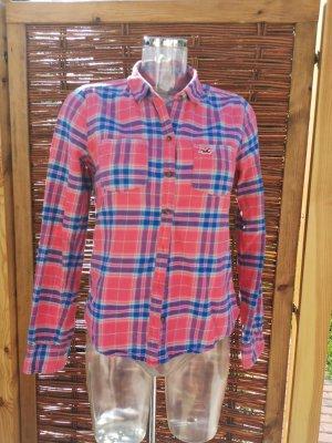 Holister Camisa de franela rojo claro-azul acero