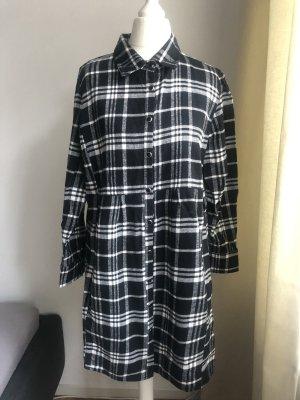 Amisu Abito blusa camicia nero-bianco