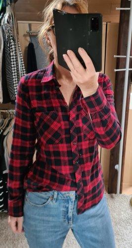 Chemise de bûcheron noir-rouge foncé