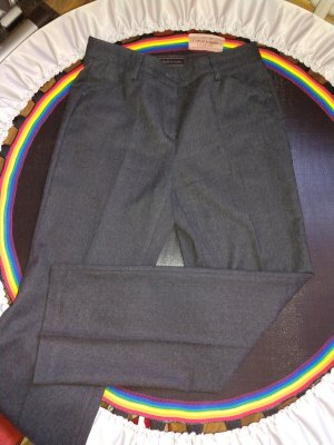 Brax Woolen Trousers anthracite