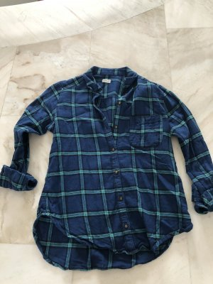 Hollister Flannel Shirt blue-turquoise