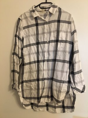 H&M L.O.G.G. Flannel Shirt white-black
