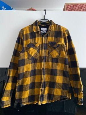 Pull & Bear Flannel Shirt gold orange-black