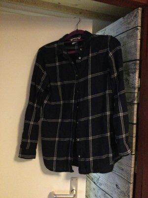 Hennes & Mauritz Camisa de franela azul oscuro Algodón