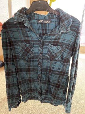 Arizona Flannel Shirt petrol-black