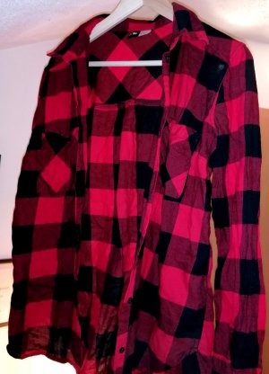 H&M Divided Flannel Shirt black-red