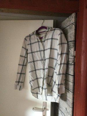 Hennes & Mauritz Camisa de franela blanco Algodón
