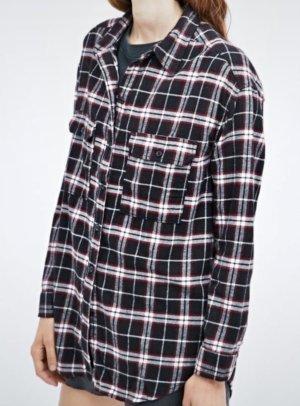 Urban Outfitters Camisa de franela azul oscuro-rojo oscuro