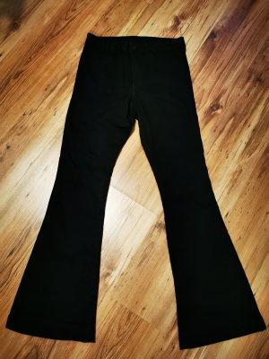 H&M Jeansowe spodnie dzwony czarny