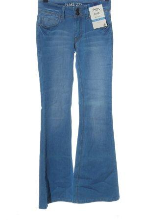 Flare Jeansowe spodnie dzwony niebieski W stylu casual