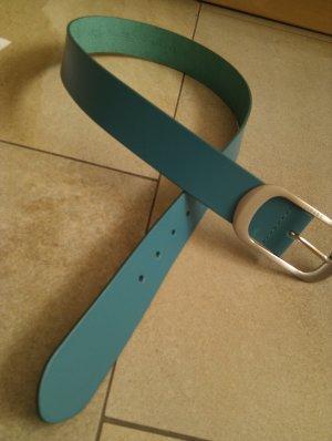 Esprit Cintura di pelle blu cadetto Pelle