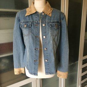 Flash Jeans Jacke mit Leder Gr. 38