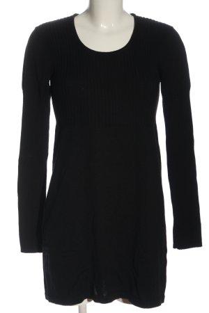 flash lights Sweaterjurk zwart gestippeld casual uitstraling
