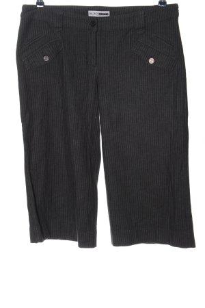 FlashLights Pantalone a 3/4 nero-grigio chiaro motivo a righe stile casual