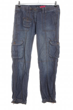 FlashLights Pantalone cargo blu stile casual