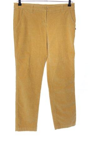 FlashLights Pantalón de pana amarillo pálido estampado a rayas look casual