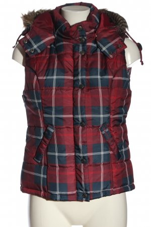 FlashLights Down Vest check pattern casual look