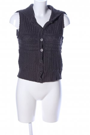 FlashLights Fine Knitted Cardigan light grey cable stitch casual look