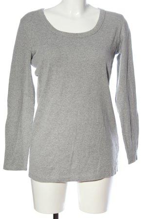 FlashLights Manica lunga grigio chiaro puntinato stile casual