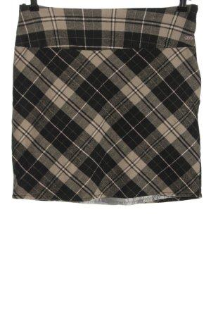 FlashLights Miniskirt black-light grey check pattern casual look