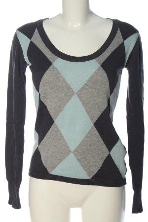 FlashLights Fine Knit Jumper check pattern casual look