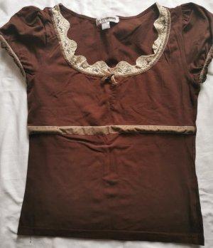 FlashLights Camicia oversize marrone-crema