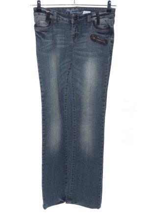 FlashLights Straight-Leg Jeans blau Casual-Look