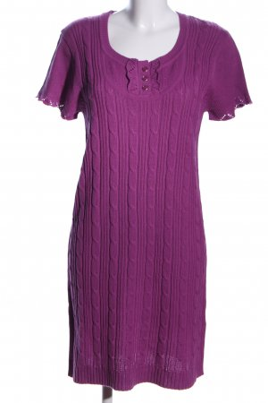 FlashLights Knitted Dress lilac cable stitch casual look