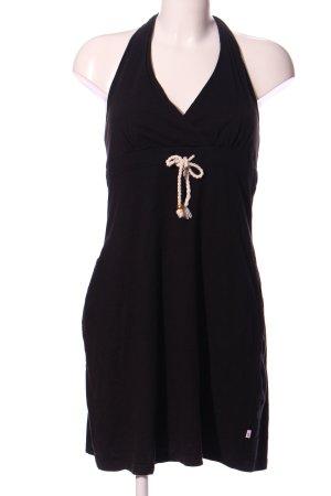 FlashLights Vestido de tela de sudadera negro look casual