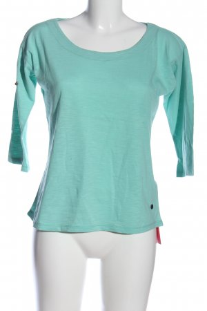 FlashLights U-Boot-Shirt blau meliert Casual-Look