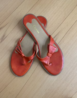 Flats Lackleder in orange