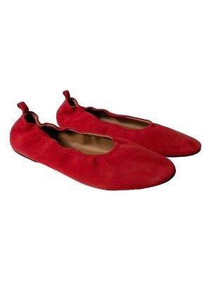 Flattered Ballerine à bride arrière rouge foncé-rouge