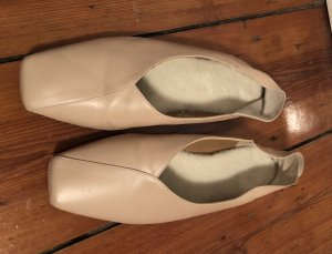 Flattered Pantuflas beige claro Cuero