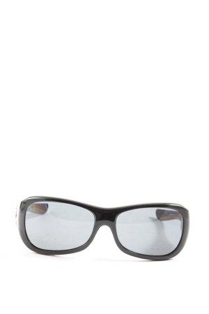 Oakley ovale Sonnenbrille schwarz Casual-Look