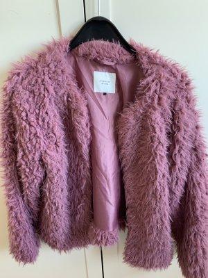 Flausch-Jacke in Pink