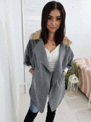 Fleece jas grijs