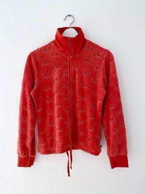 Adidas Veste de sport rouge coton