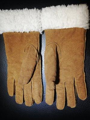 Gevoerde handschoenen camel