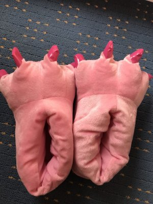 Scuffs neon pink-pink